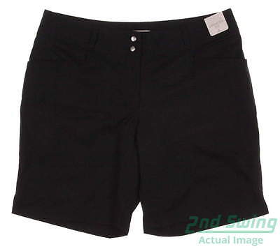 New Womens Adidas Golf Essential Lightweight Shorts Size 4 Black MSRP $65 AE8950