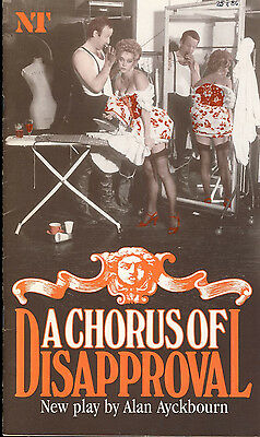 A Chorus of Disapproval ALAN AYCKBOURN NT 1985 Theatre Programme refb1232