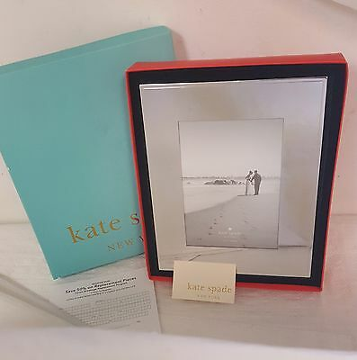 NEW LENOX KATE SPADE NEW YORK DARLING POINT SILVER 5x7 PHOTO PICTURE FRAME