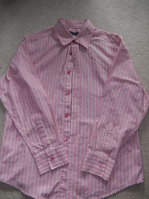 Boys Suited and Booted BHS Pink and White Striped Shirt Age 11-12