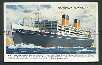 "C1939-49 Col Pc ""dominion Monarch"" -- Shaw Savill Line"