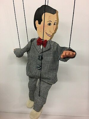 Rare Vintage Wooden Pee Wee Herman Playhouse Marionette String Puppet Used Great