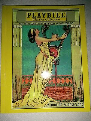 Playbill Classics Collection Book Of Postcards LOT 0f 24 Golden age Broadway