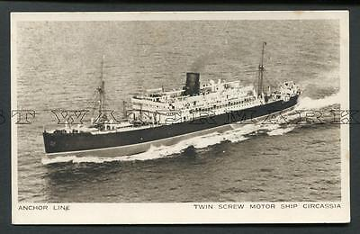 "C1930/s Postcard Anchor Line ""circassia"" At Sea - Aerial Vu"