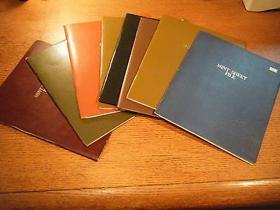 EIGHT 1980s used simulated Vinyl Cover HARCO Mint SHEET files Total capacity 336
