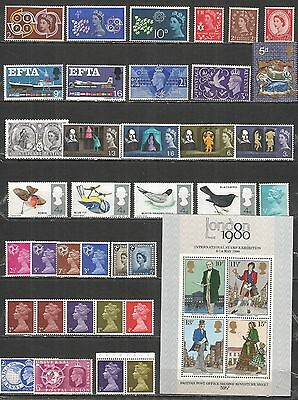 Great Britain   a nice small collection  mint stamps MNH (**)