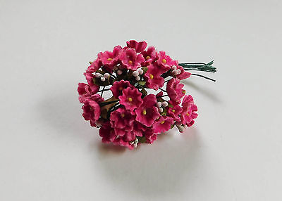 Vintage Red Forget Me Not Flowers Millinery Dolls Hats