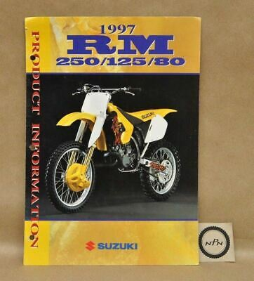 1997 Suzuki RM250 RM125 RM80 Product Model Information Features Brochure