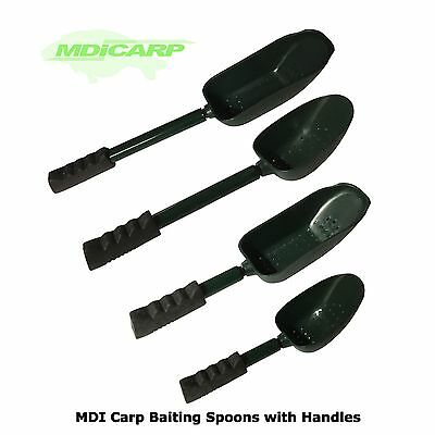 MDI Carp Green Baiting Spoons with Baiting Spoon Handles