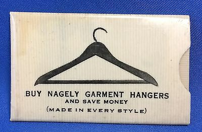 Original Antique Nagely Garment HANGERS Advertising CELLULOID STAMP Holder NY