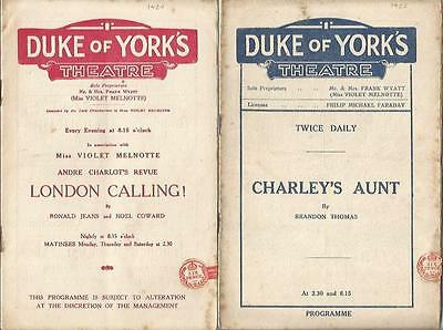 Four Vintage Programmes From The Nineteen Twenties