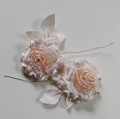 """Vintage Pink Scabiosa Fabric Flower Hats Millinery 2 1/4"""""""