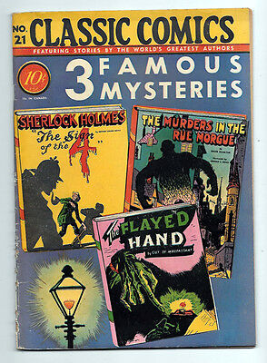 Classics Illustrated #21 VG/F 5.0 1st edition 3 Famous Mysteries