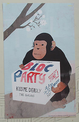 BLOC PARTY FILLMORE POSTER Kiss Me Deadly ORIGINAL BILL GRAHAM F692 S.Neal