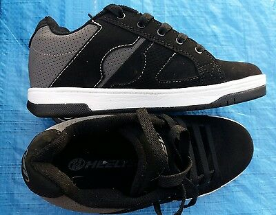 Heelys size 4 Black white grey Used in good condition.