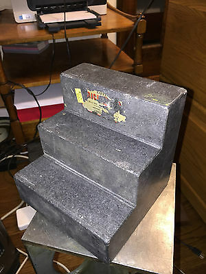 "COLLINS MICROFLAT STEP TABLE BLOCK SURFACE INSPECTION PLATE 6"" x 6"" x 6"""