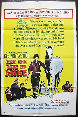 For The Love Of Mike 1960 Original US One Sheet Poster