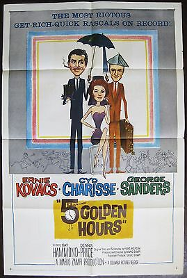 Five Golden Hours 1961 Ernie Kovacs Cyd Charisse George Sanders US Poster
