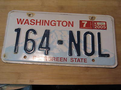 2005 Washington License Plate Expired 164 Nol