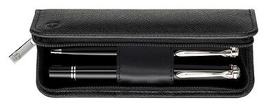 Pelikan - 2 Pen Case - Nappa Leather - Black - Zipper Closure
