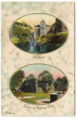 [2055] Scotland Bute Colored Postcard Of Rothesay Castle