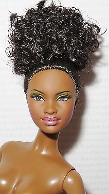 Nude Barbie ~ Raven Brown Eye Basic Model 08 003 Muse Aa Mbili Doll For Ooak