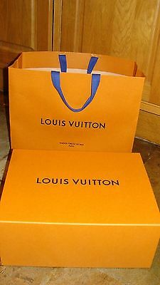 LOUIS VUITTON  HANDBAG  box and the Louis Vuitton carrier bag,both VERY  LARGE