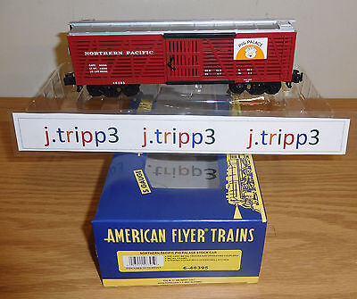 Lionel American Flyer #48395 Northern Pacific Pig Palace Stock Car Train S Gauge