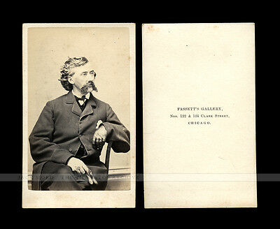 Civil War CDV Union Colonel and BBG James Mulligan Western Irish Brigade KIA