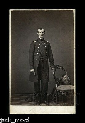 Very Rare CDV Photo Civil War General H.L. Wallace by Fassett Chicago