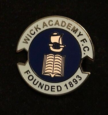 Wick Academy Football Club Metal Pin Badge Excellent Condition