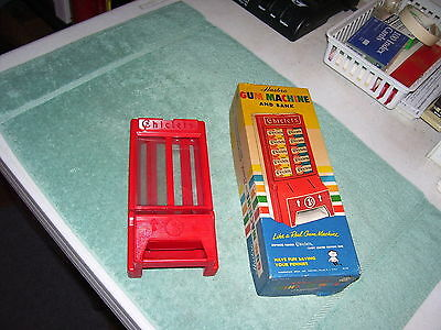 Chiclets Chewing Gum Vintage Hasbro Hard Plastic Gum Machine Bank W/ Box
