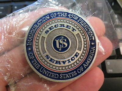 Donald Trump Inauguration USSS Secret Service Challenge Coin 45th