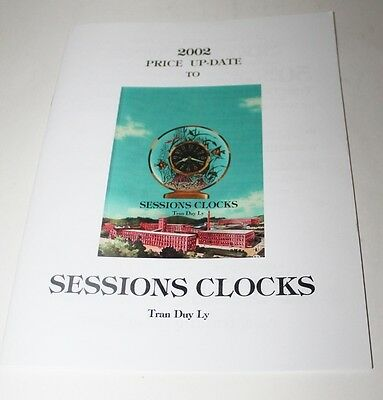 Sessions Clocks 2002 Price Up-Date By Tran Duy Ly