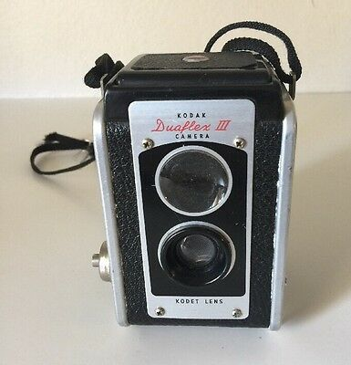 Vintage Kodak Duaflex IV Box Camera with Strap-Kodet Lens