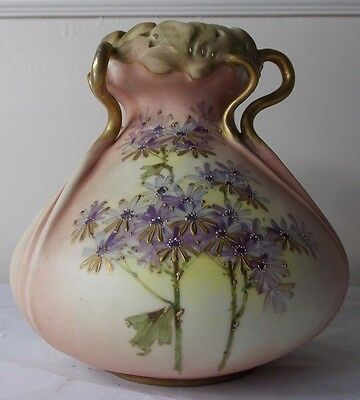 SUPERB c1900 RS + K TEPLITZ AUSTRIAN AMPHORA VASE Arts Crafts