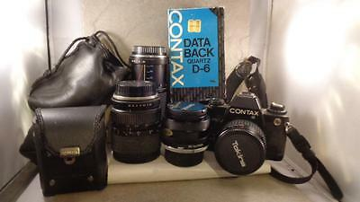 Contax 139 Quaetz SLR Camera 3 Lens, Doubler & Data Back