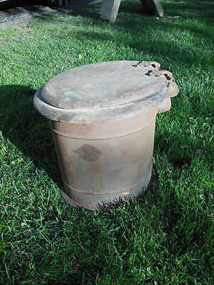 lav-olet standard steel corp AMAZING antique portable victorian toilet 1900s