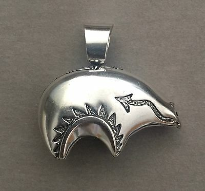 Native american sterling silver large bear pendant 14999 picclick native american sterling silver large bear pendant aloadofball Images