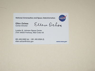Nasa astronaut william bill readdy signed business card autograph nasa astronaut ellen ochoa signed business card autograph colourmoves