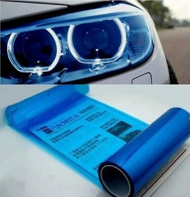 "Car Headlight Taillight Fog Wrap Cover Vinyl Film Tint Cool Royal BLUE 12"" x 48"""