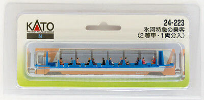 """Kato 24-223 Model People """"Glacier Express Crew and Passengers"""" (N scale)"""