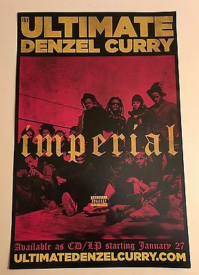 """The Ultimate DENZEL CURRY PROMO 11""""x17"""" Poster to promote IMPERIAL album Mint"""