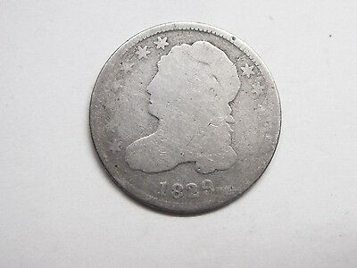 1829 Capped Bust Dime  90% silver  GTM Estate