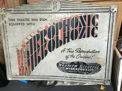 1   western electric  mirrophonic sign for we system