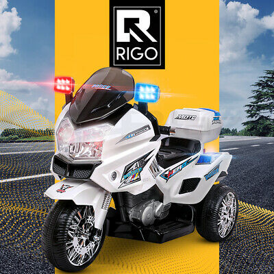 Rigo Kids Ride On Car Motorbike Electric Battery S1K Inspired Police Patrol Cars