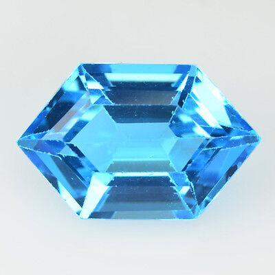 Rare Gems Stone Collection  From Brazil Swiss Blue Topaz 2.74 Ct Fancy Cut