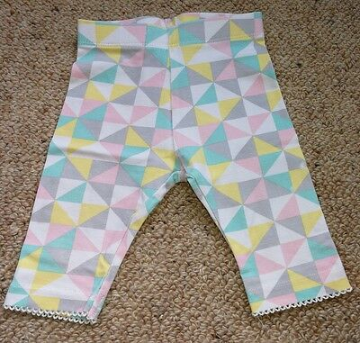 Girls Baby Pants With Triangle Pattern (Size 000, 0-3 Months)