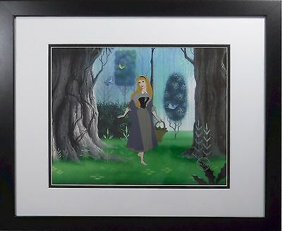 STUNNING Sleeping Beauty Disney Sericel cel NEW Frame Deluxe Forrest background