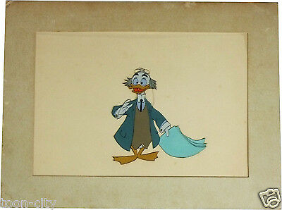 Professor Ludwig Von Drake original production Disney cel Art Corner circa 1960s